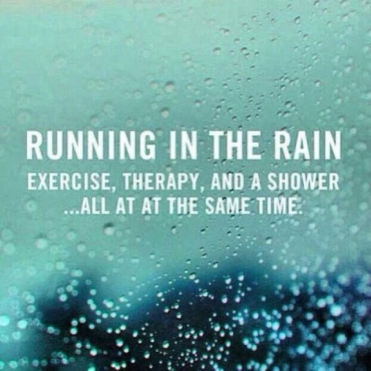 exercise in the rain