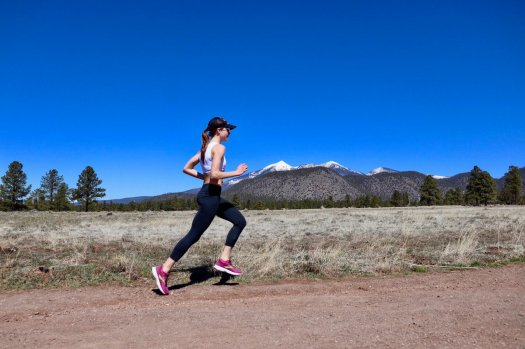 oiselle working out at altitude